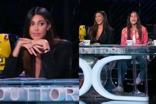 Tu sì que vales: per la prima puntata Belén Rodriguez sceglie l'abito giacca, Giulia Stabile i jeans