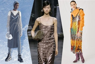 Il ritorno dello slip dress anni '90: come indossare l'abito sottoveste anche in autunno