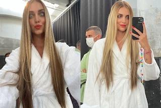 Chiara Ferragni, il nuovo look con le extension: per lo shooting sfoggia capelli lunghissimi e lisci
