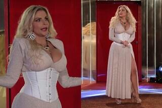 Francesca Cipriani con il corsetto al GF Vip 6: il look scintillante per l'incontro col fidanzato