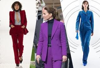 Come vestirsi in autunno: scegli il tailleur pantalone colorato come Kate Middleton