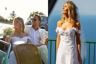 Gabriella de Givenchy sposa romantica: l'abito con fiori di pizzo è della Maison di famiglia