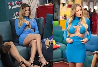 """Sophie Codegoni con il vestito """"rivelatore"""" al Gf Vip 6: l'abito ha un taglio cut-out sul seno"""