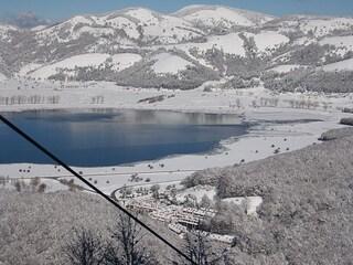 A Lago Laceno, sulle piste innevate più belle della Campania