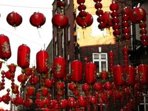 Lanterne rosse per il Capodanno cinese.