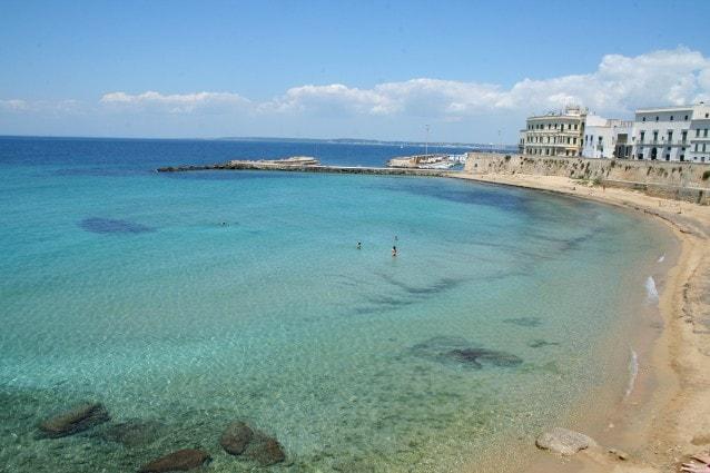 Il mare cristallino di Gallipoli, Puglia.