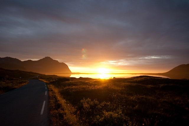 Sole di mezzanotte in Norvegia
