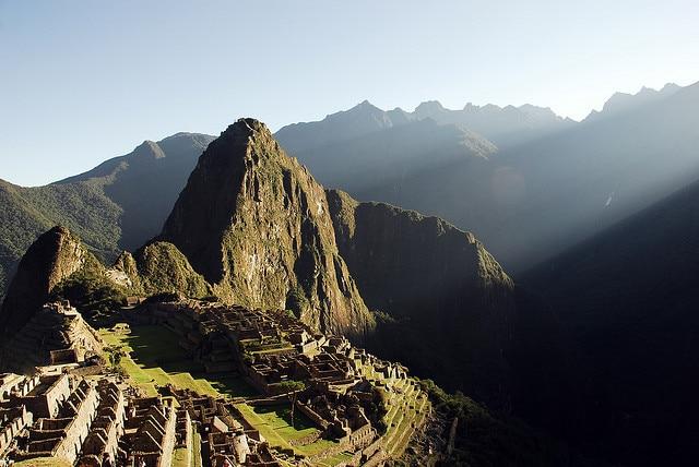 Alba su Machu Picchu