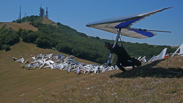 Deltaplano sul Monte Cucco