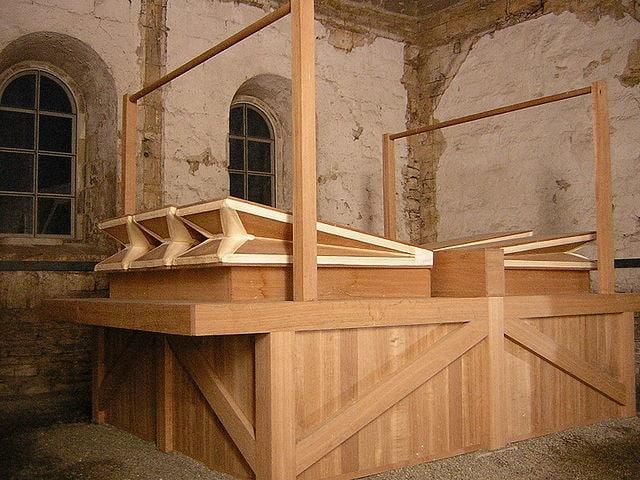 I mantici dell'organo. Foto da Wikimedia Common
