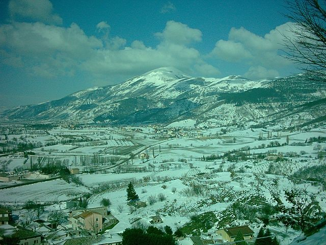 Parco del Monte Cucco in inverno