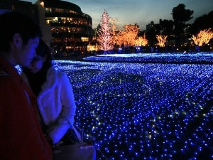 Natale a Tokyo Midtown (Foto Getty Images).
