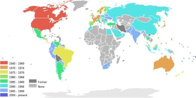 Dove si trova McDonald's nel mondo.