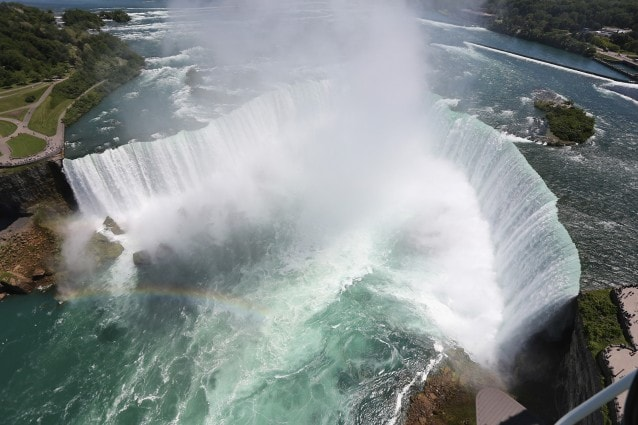 Cascate del Niagara dall'alto (Getty Images).