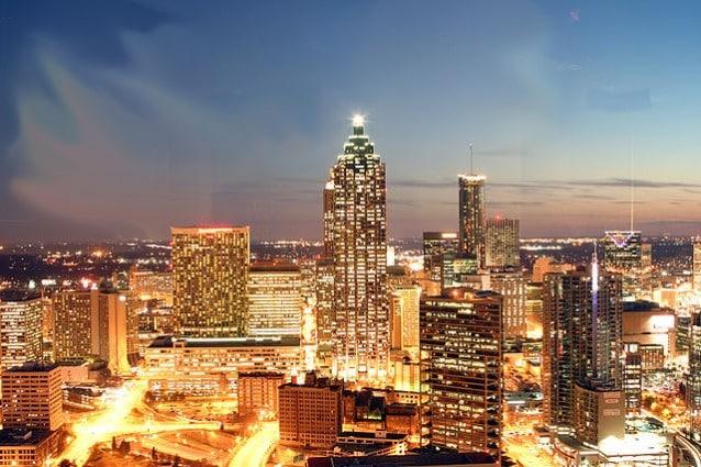Atlanta di notte.