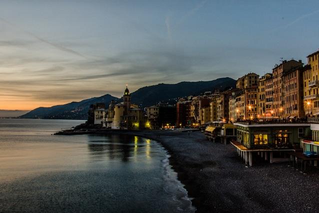 Camogli di sera, Liguria.