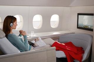 Passeggiata interattiva nell'aereo di lusso di Air France