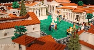 L'antica città di Pompei ricostruita con i mattoncini Lego