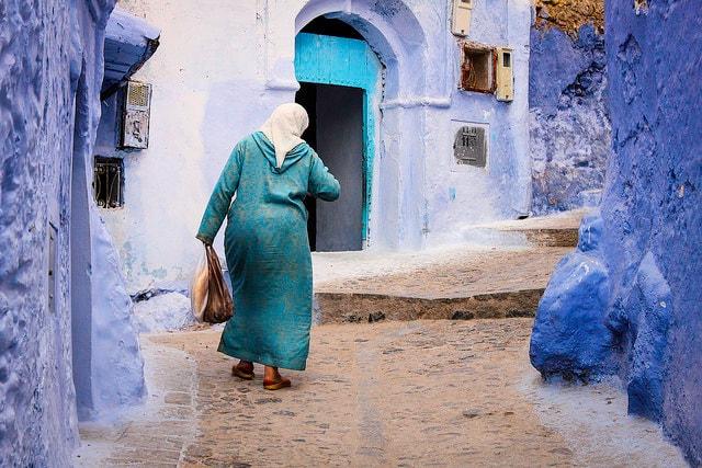 Donna a Chefchaouen, Marocco