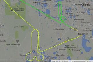 Pilota annoiato disegna peni attraversando i cieli della Florida
