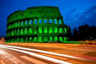 Il Colosseo tra i monumenti che si tingeranno di verde per S. Patrizio