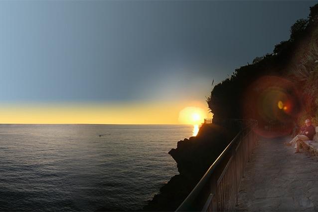 Il mare della Liguria, il più apprezzato anche nelle Bandiere Blu.