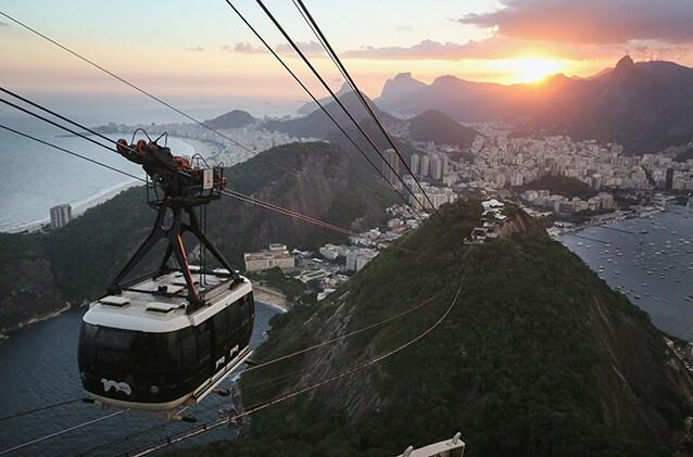 La funivia di Pan di Zucchero, Rio de Janeiro.