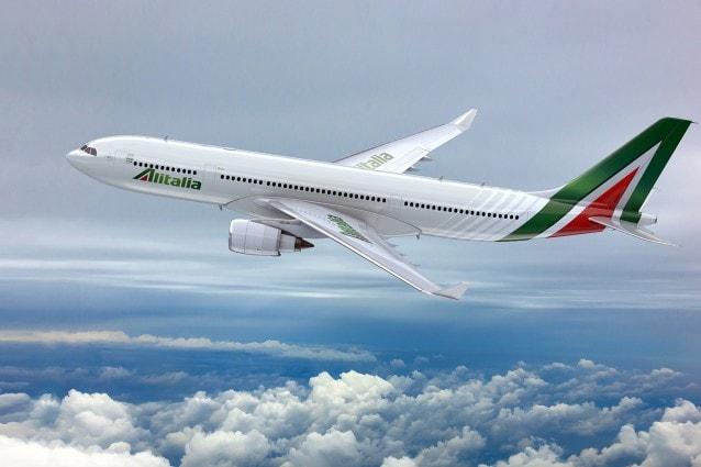 Rendering di un nuovo A 330 Alitalia.