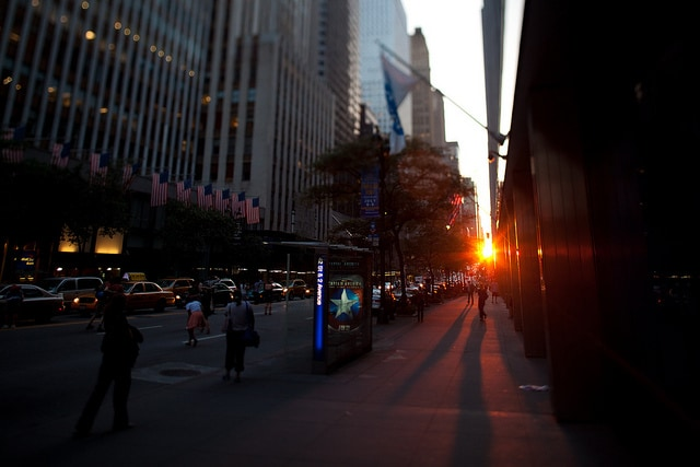 Manhattanhenge, 42nd st. and 2nd Ave.