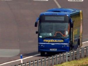 Un mezzo Megabus in Inghilterra.