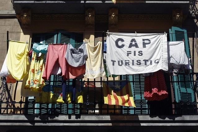 """Cap pis turistìc"" a Barceloneta."