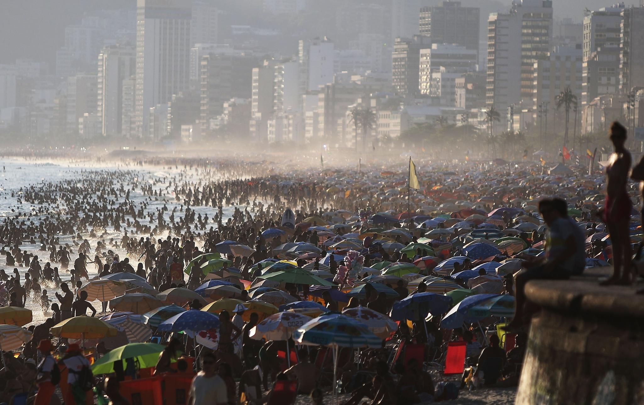 Ipanema Beach a Rio de Janeiro, Brasile.
