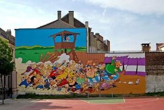 A Bruxelles la street art ha il volto degli eroi del fumetto