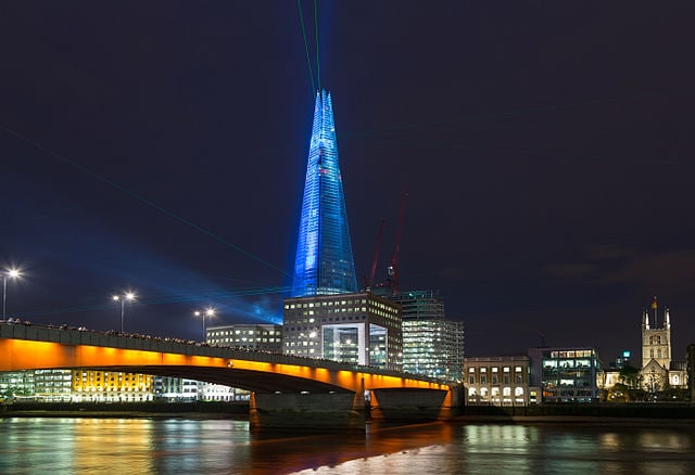 The Shard di sera, Londra