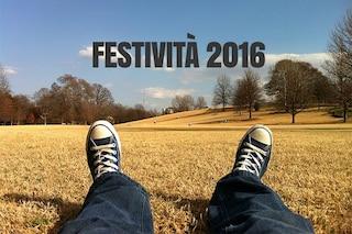 Festività 2016: 1 maggio e Natale cadono di domenica
