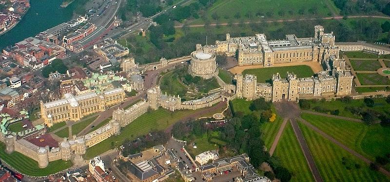 Le mura del castello di Windsor