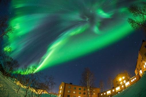 Aurora Boreale nel nord della Svezia