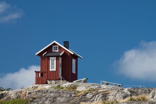 Tipica casa rossa svedese. Foto da Flickr