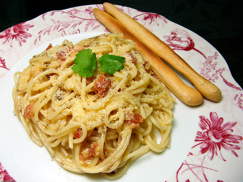 Pasta alla Carbonara. Foto di: Wikipedia