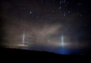 Light pillar, l'incredibile spettacolo delle colonne di luce