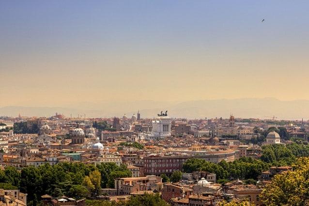 Roma, veduta dal Gianicolo – Foto di Giuseppe Moscato