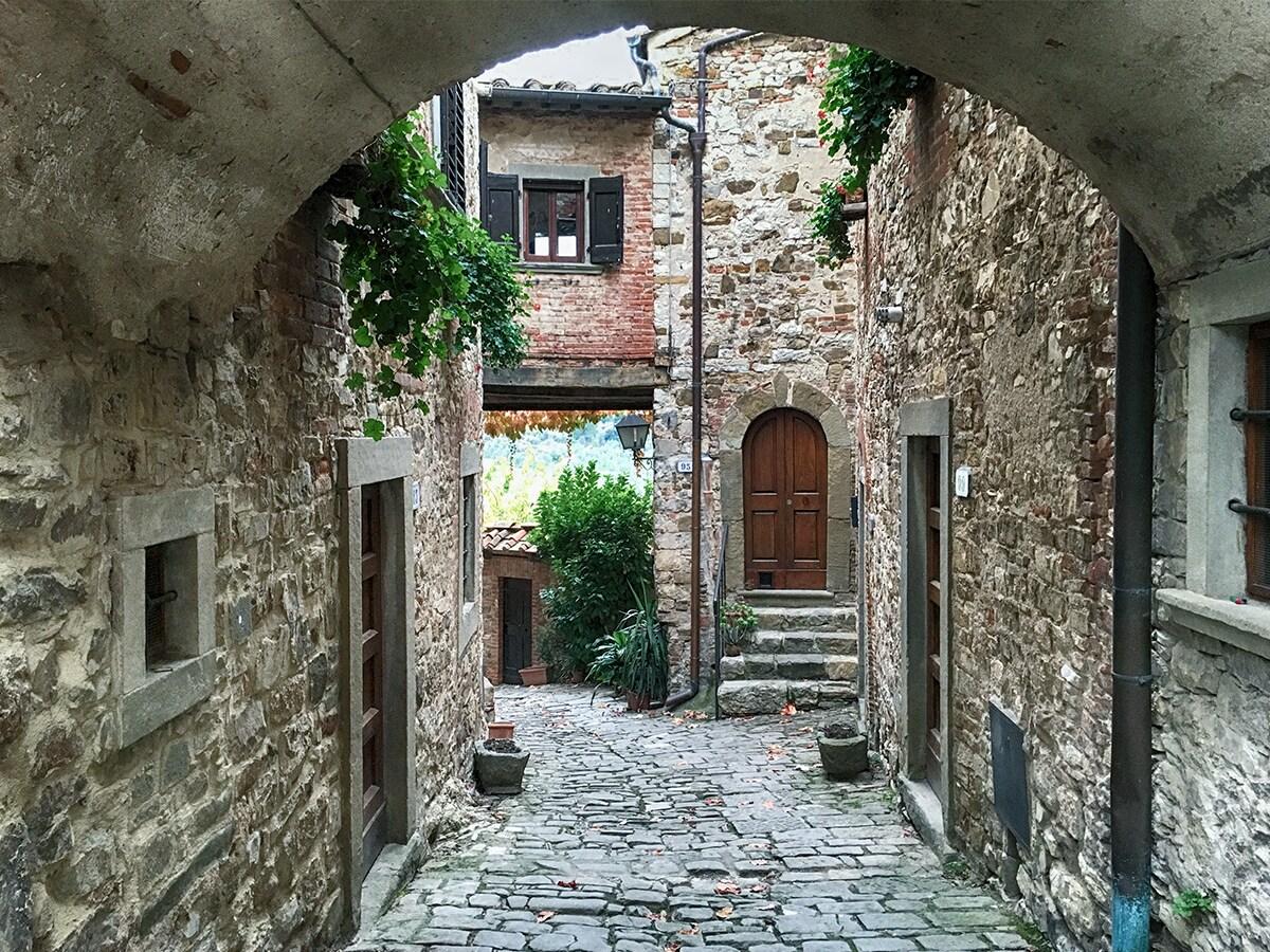 Vicoli di Montefioralle [@Fanpage.it/Ilaria Vangi]