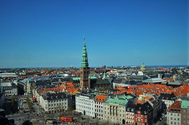 Copenaghen dall'alto della Torre