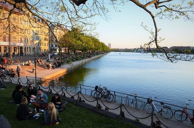 Lago artificiale di Copenaghen