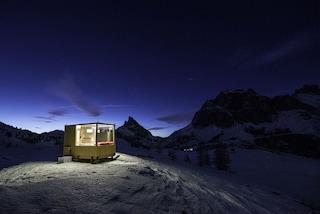 Una stanza di vetro a Cortina per dormire sotto le stelle