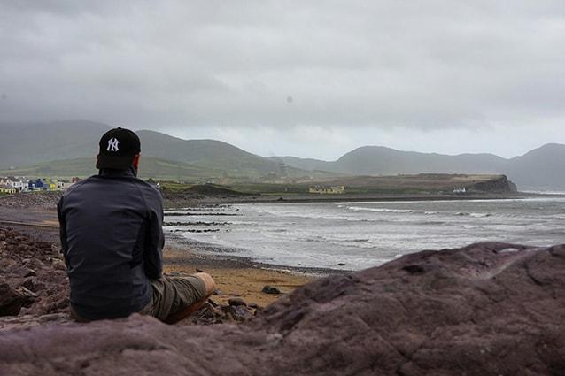 Sulla costa della conte del Kerry, in Irlanda.