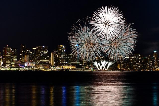 Fuochi d'artificio durante il Canada Day Celebrations – Credits: Dustan Sept