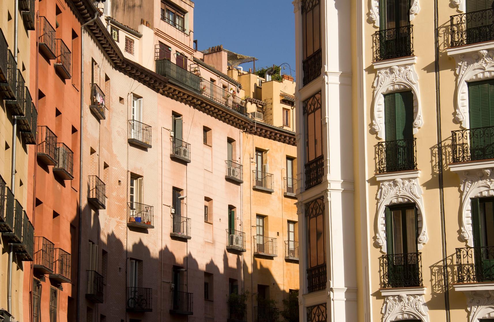 Uno scorcio del quartiere Malasaña a Madrid