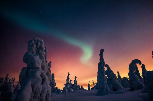 Aurora boreale a Iso–Syöte – Foto di Visit Finland