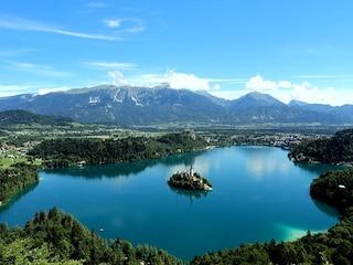 Bled, un'isola nel cuore del lago in Slovenia